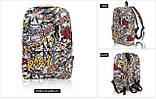 Городской молодёжный рюкзак, комикс, фото 3