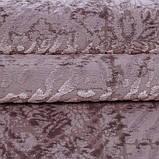 Красивейший однотонный лиловый мягкий современный ковер из хлопка, фото 4