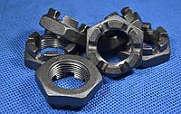 Гайка низкая М48 ГОСТ 5919, DIN 937 корончатая, прорезная