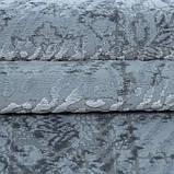 Элитные турецкие ковры, ковер хлопковый в полоску голубого цвета, фото 2