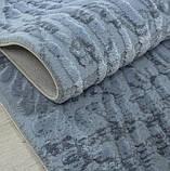 Элитные турецкие ковры, ковер хлопковый в полоску голубого цвета, фото 3