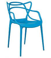 Стул Masters Chair, голубой пластик PP, дизайнPhilippe Starck