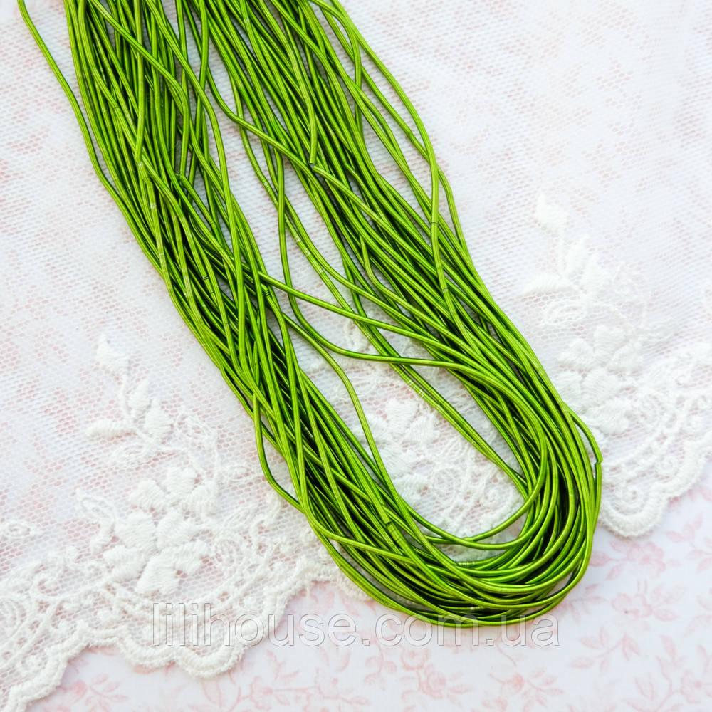 """Канитель мягкая """"Зеленая трава, 1 мм - 10 г."""