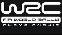 Наклейки на автомобиль: WRC fia world rally - белая, фото 1