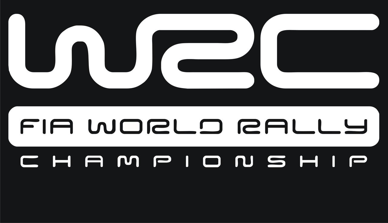 Наклейки на автомобиль: WSC fia world rally - белая