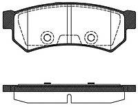 Remsa задние колодки (Под датчик износа, LUCA S) RS 1031.00