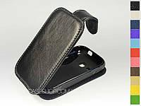 Откидной чехол из натуральной кожи для Samsung s6312 Galaxy Young Duos