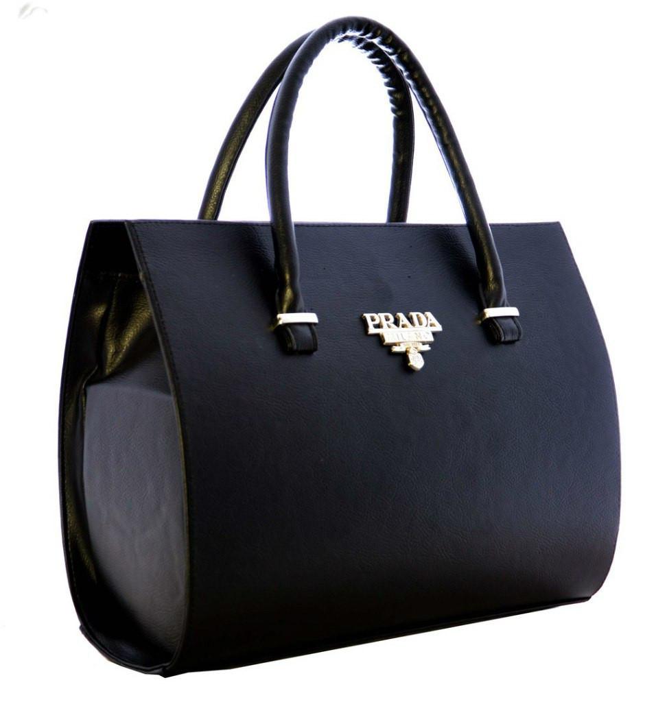 Каркасная сумка Prada (Прада), чёрная - Интернет - супермаркет «INSIDE» в Сумах