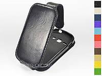 Откидной чехол из натуральной кожи для Samsung s6810 Galaxy Fame