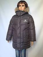 Удлиненная зимняя курточка