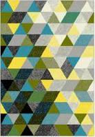Ковёр Kolibri треугольники - серый 0.80х1.50