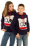 Детский теплый свитер с капюшоном, унисекс, р.128-152