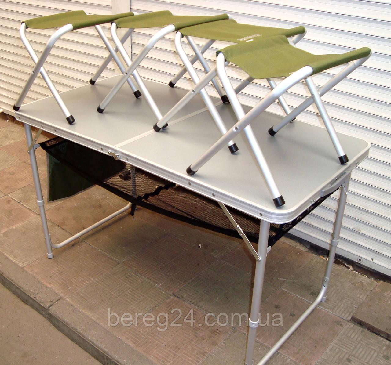 Кемпинговый стол и 4 стула Ranger раскладной 120х60х70 см