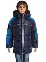 Зимняя мальчуковая куртка с натуральным мехом