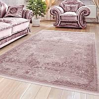 Красывые мягкие ковры из хлопка в нежных пастельно розовых тонах