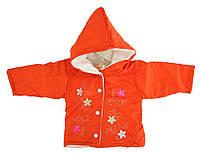Курточка для девочек, оранжевая (6-12 мес)