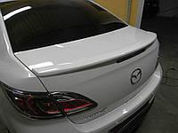 Спойлер лип на багажник Mazda 6 2008-2012 седан ABS пластик