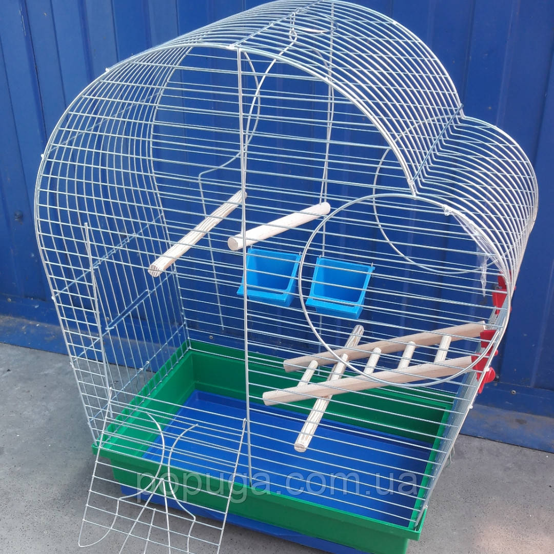 Клетка для попугаев Патриот с деревянным комплектом