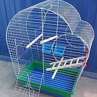Клетка для попугая Патриот с деревьяным комплектом