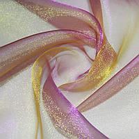 94651 - мусс-органза фиолетовая с коричневым отливом