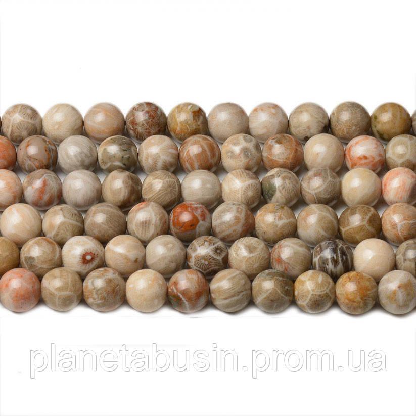 8 мм Ископаемая Яшма, CN264, Натуральный камень, Форма: Шар, Отверстие: 1мм, кол-во: 47-48 шт/нить