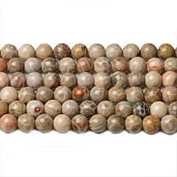 Яшма Ископаемая, Натуральный камень, На нитях, бусины 8 мм, Шар, 48 шт/нить