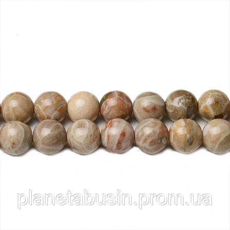 8 мм Ископаемая Яшма, CN264, Натуральный камень, Форма: Шар, Отверстие: 1мм, кол-во: 47-48 шт/нить, фото 2