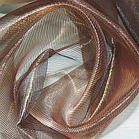 Кристалл Органза шторы коричневая с золотым отливом хамелеон