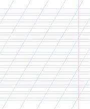 Тетради на 12 листов, косая с доп. линией