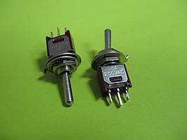 Тумблер SMTS-103-2A1 (ON-OFF-ON), 3pin, 1,5A 250VAC