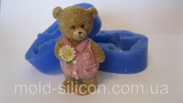 """3д силиконовый молд """"Медвежонок Тедди"""""""