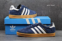 Мужские кроссовки Adidas 350 темно синие 2660