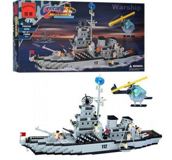 Конструктор BRICK 112 корабль, 970 дет