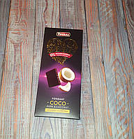 Черный шоколад Torras  85% какао без сахара с кокосом