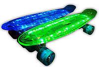 Пенни борд 5 цветов, доска светится, зарядка USB , фото 1