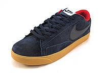 Кроссовки мужские  Nike замшевые синие  (р.41,42,43,44,45,46)