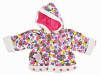 Курточка для девочек, розовая (6-12 мес)