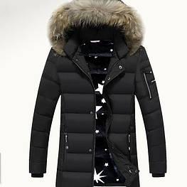 Мужское зимнее пальто с капюшоном. Модель 6201