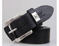 Мужской кожаный ремень Armani (309) black
