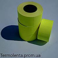 Этикет - лента 26*16 (700) Желтая