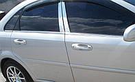 Молдинги окна нижние Chevrolet Lacetti седан 2004-2013 (нержавеющая сталь) 6 штучные