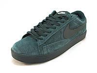 Кроссовки мужские  Nike замшевые зеленые  (р.41,44,45,46)