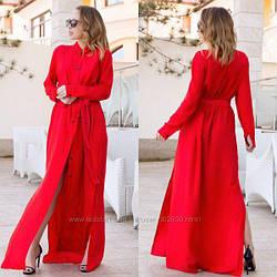 Женское платье рубашка длинная в пол