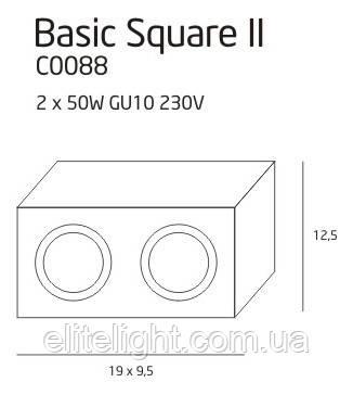 Точечный светильник Maxlight Basic Square II C0088