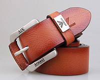 Мужской кожаный ремень в стиле Armani (309) brown