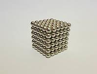 Магнитный конструктор Неокуб Neocube 5мм серебристый