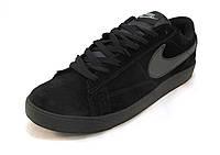 Кроссовки мужские  Nike замшевые черные  (р.41,42,43,45,46)