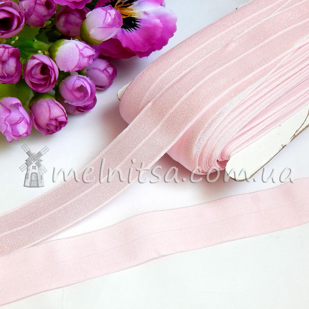 Эластичная бейка, 2,5 см, св.розовый