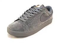 Кроссовки мужские  Nike замшевые серые  (р.42,43,44,45,46)