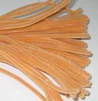 Синельная (пушистая) проволока, персиковая